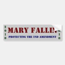 Mary Fallin: protecting The 2nd Amendment Bumper Sticker