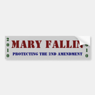 Mary Fallin: protecting The 2nd Amendment Bumper Sticker