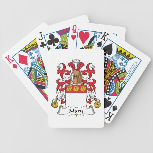 Mary Family Crest Bicycle Playing Cards