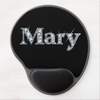 """Mary Faux-""""Diamond Bling"""" Gel Mouse Pad"""