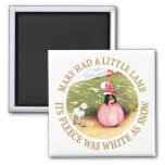 Mary Had a Little Lamb 2 Inch Square Magnet