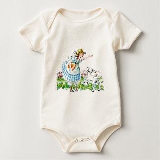 Mary Had a Little Lamb Baby Bodysuit