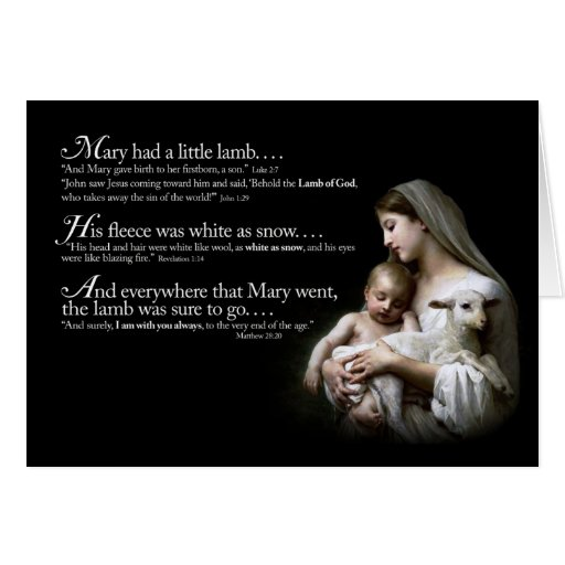 Mary had a Little Lamb Christmas Card