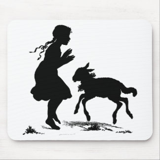 Mary Had a Little Lamb Easter Mouse Pad