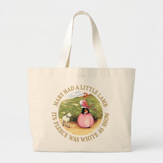 Mary Had a Little Lamb Large Tote Bag