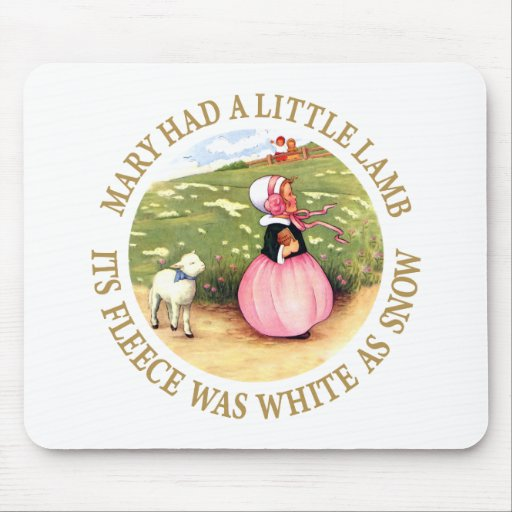 Mary Had a Little Lamb Mouse Pad