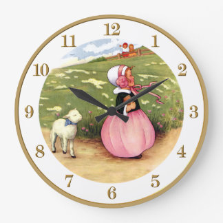 Mary Had a Little Lamb Nursery Rhyme Clock