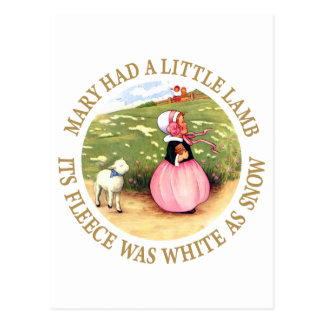 Mary Had a Little Lamb Postcard