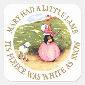 Mary Had a Little Lamb Square Sticker