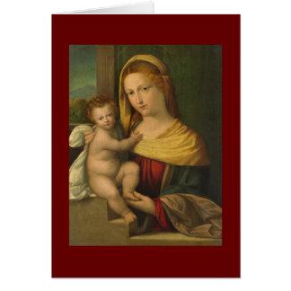 Mary Holding Jesus Benvenuto Tisi Card