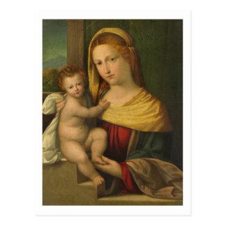 Mary Holding Jesus Benvenuto Tisi Postcard