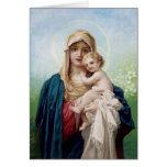 Mary holding Jesus Greeting Card
