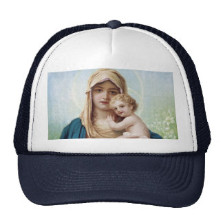 Mary holding Jesus Trucker Hat