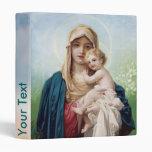 Mary holding Jesus Vinyl Binder