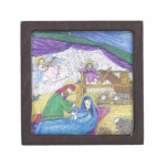 Mary in a Manger Premium Jewelry Box
