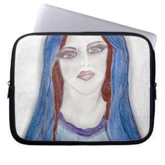 Mary in Blue Computer Sleeve