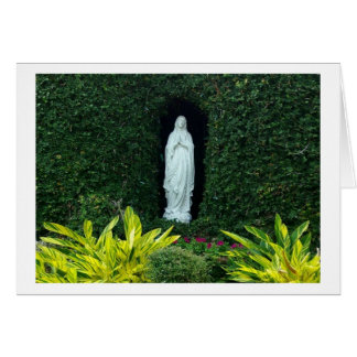 Mary in the garden card