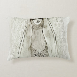 Mary in the Grotto Accent Pillow