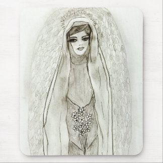 Mary In The Grotto Mouse Pad