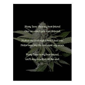 Mary Jane is my friend. Postcard