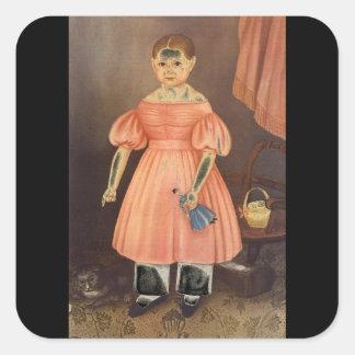 Mary Jane Smith', Joseph Whiting_Portraits Square Sticker