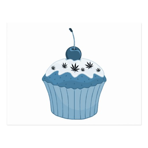 Mary Jane's Cupcake - Blue Postcard