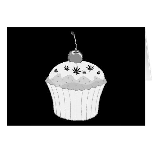 Mary Jane's Cupcake - White & Black Greeting Card