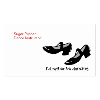 Mary Janes Dance Shoes Id Rather Be Dancing Business Card Templates