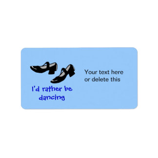 Mary Janes Dance Shoes Id Rather Be Dancing Label