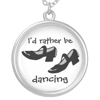 Mary Janes Dance Shoes Id Rather Be Dancing Necklaces