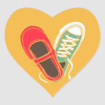 Mary Janes & Sneakers (Amber) Envelope Seal Heart Stickers