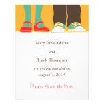 Mary Janes & Sneakers (Amber) Save the Date Announcement