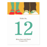 Mary Janes & Sneakers (Amber) Table Number Post Card