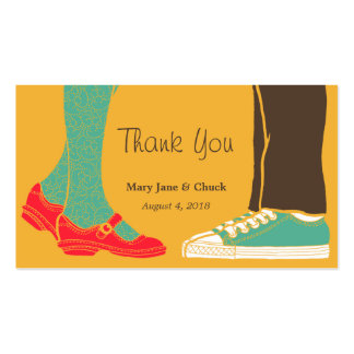 Mary Janes & Sneakers (Amber) Wedding Favor Tags Business Card