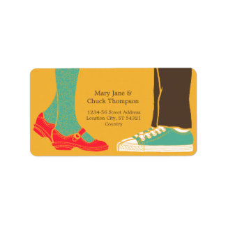 Mary Janes & Sneakers (Amber) Wedding Label