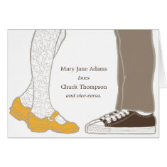 Mary Janes & Sneakers Thank You Card