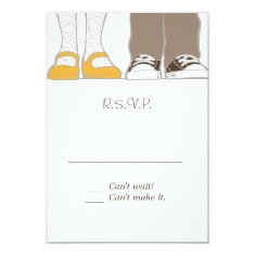 Mary Janes & Sneakers (White) RSVP Invitations
