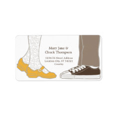 Mary Janes & Sneakers (White) Wedding Personalized Address Labels