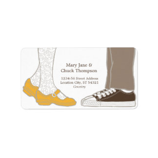 Mary Janes & Sneakers (White) Wedding Label