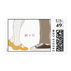 Mary Janes & Sneakers (White) Wedding Postage