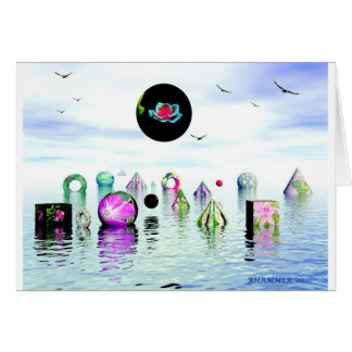 MARY JANES WATER GARDEN CARD
