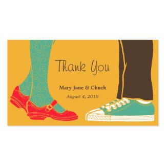 Mary Janes y zapatillas de deporte (ambarinos) que Tarjeta De Negocio