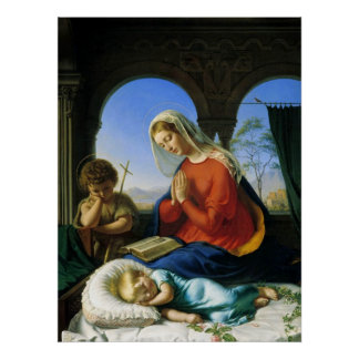 Mary, Jesus, & John the Baptist Poster