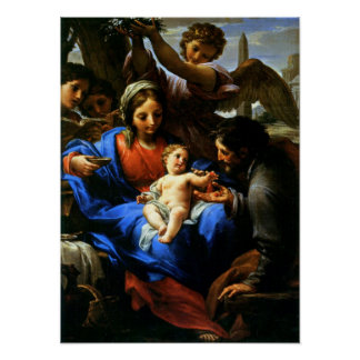 Mary, Jesus, & Joseph - Flight to Egypt Poster