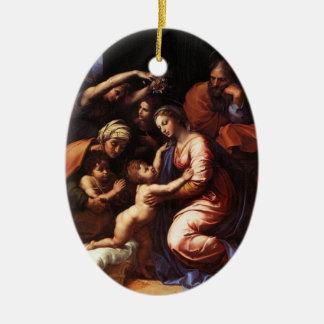 Mary, Jesus, Joseph, John the Baptist Ornament