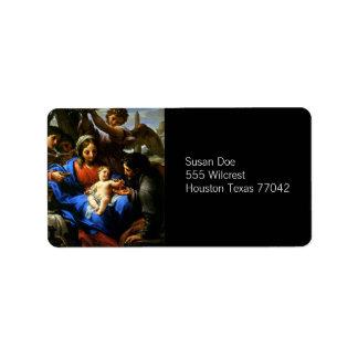 Mary, Jesus, & Joseph Label
