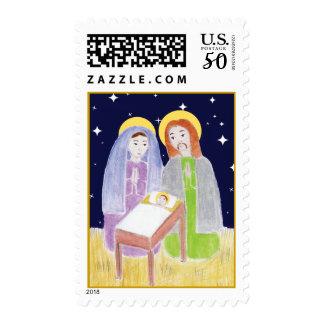 Mary, Jesus, & Joseph Postage