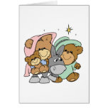 mary joseph baby jesus teddy bear christmas design card