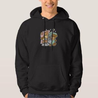 mary joseph baby jesus teddy bear christmas design hoodie