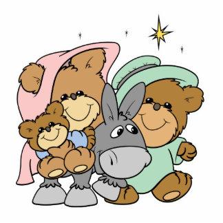 mary joseph baby jesus teddy bear christmas design photo cutout